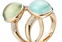 Blue & Green Engagement Rings
