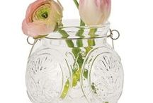 Candle Holders & Vases - Hanging Mason Jars / An essential element for rustic-chic decorating.  Our collection steps away from the ordinary, borrowing inspiration from some of our favorite jelly and preserve jars.  Perfect for centerpieces and wedding favors.  Hang several together to make your own chandelier.  Fill them with flowers during the day and with candles at night.