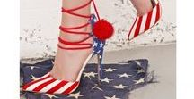 Red, White & Blue Shoes / Show off your patriotic pride with red, white and blue shoes or stars and striped shoes for Independence Day or celebrate the 4th of July year-round!