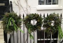CHRISTMAS / INSPIRATION, HAND TIED FRESH DECORATIONS, FLOWER ARRANGEMENTS, CHRISTMAS WREATHS AND MORE
