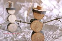 Rondins et branches * Wood slices and branches / DIY * Rondins et branches * Wood slices and branches