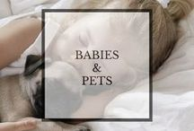 Babies and Pets / Cute photographs showing babies & animals... how can you resist!?