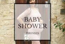 Baby Shower Dresses / Baby shower dresses: maternity style. Formal, chic and casual-  we have the dress for you. #babyshower #babyshowerdresses #maternitydresses