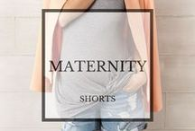 Maternity Shorts: Spring/Summer 2015 / Shorts for the chic maternity lifestyle, designed to fit that baby bump. #babybump #maternityfashion #maternityshorts