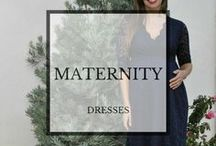 Maternity Dresses / Maternity dresses to fit your pregnancy lifestyle, both regular sized and plus sized dresses. Maxi dresses, short dresses, strapless dresses, shirtdresses- you name it, we have it.  #pregnancy #maternitydresses #plussize