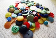 Vintage Buttons / All different types of vintage buttons. Since I purchased a large bag of buttons for my unique sewing projects I suddenly fell in love with vintage buttons. Now I have a hard time parting with them.