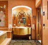 Interiors of bathrooms   Интерьеры санузлов