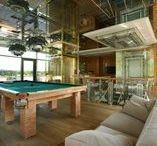 Interiors of billiard rooms   Интерьеры бильярдных