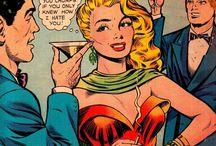 Half Tone Half Truth / Vintage comic panels telling it like it is
