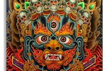 The Masks of God / 'The Hero with 1000 faces' Ritual masks throughout history. Tribal to theatre. Some amazing colours and crazy abstractions. The stuff nightmares are made of