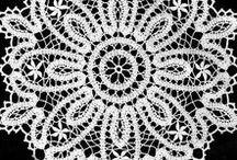 Crochet doily, patterns.