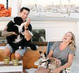 Tiny Living / Newlyweds living on a 42ft boat in a marina in California. Tiny living. Tiny home
