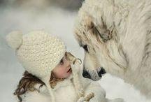 Дети и животные, фото
