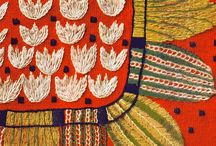 Crafts: textile / #Handmade #crafts #art #beadwork #embroidery #patchwork #felted #textile #fabric #stitch