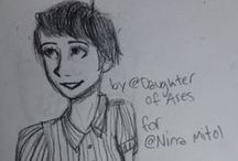 My sweeties by @Daughter of Ares / Daughter of Ares, u r an amazing artist.