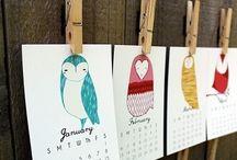 Design: Calendar / Design, art, illustration, crafts, papercut, stitched, idea, inspiration