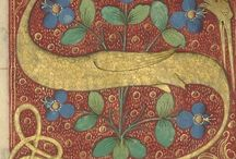 Calligraphy / manuscripts / Old calligraphy illumination manuscript medieval miniature illustration art fraktur