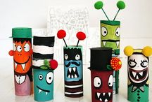 Crafts: recycled / Egg carton, paper towel roll, toilet roll, milk carton, plastic bottle #kids #recycled #crafts #handmade #art #toys #funny #joy #animal
