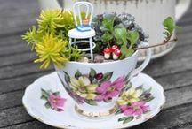 Flowers in tea cups / This board has been put together as a useful resource for my 4-week online flower arranging course.  If you'd like to find out more about my #flowerstart workshops drop me a line at julie@juliedaviesflowerworkshops.co.uk