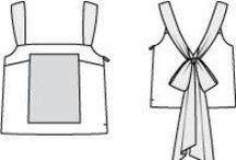 PPC - Tops à bretelles spaghettis, débardeur / Patrons de tops à fines bretelles, type débardeur