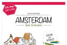 Very Mappy - Amsterdam / Color, play and discover the Dutch capital with this delightful children's map. This giant map features Amsterdam museums, attractions and sights.