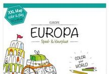 Very Mappy - Europe / Fill the Eiffel Tower or the Loch Ness Monster with colors, whiz your car from Spain to Russia. A creative adventure along Europe!