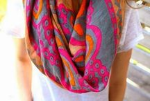 scarf love. / What's not to love about a material square?
