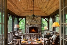 Porches and Patios / I prefer mainly screened-in porches, but there will be a few that are open air.  / by Amy Beth Cupp Dragoo | ABCDdesign