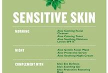 ALOE for Sensitive Skin / Aloe vera is a natural skin soother and perfect for allergy-prone, itchy or red skin. Our naturally soothing Community Fair Trade organic aloe vera is hand filleted within 12 hours for maximum freshness.