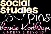 Social Studies / Welcome to Bonnie Kathryn Kinders & Beyond Social Studies board. Here you will find Social Studies resources to help you in your classroom. From maps to famous historians, it is all here! Find more at bonniekathryn.com