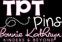 Bonnie Kathryn on TpT / Welcome to Bonnie Kathryn Kinders & Beyond TpT board. Here you will find all of Bonnie Kathryn resources on TpT to help you in your classroom. Interactive resources for the Kindergarten, First, and Second grade classroom. Find more at bonniekathryn.com