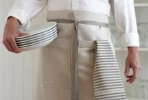 Linens for the kitchen / Linens you can use (and wear) mostly in and around the kitchen.