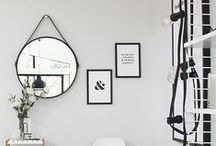 On the Wall / ideas for decorating empty white walls.