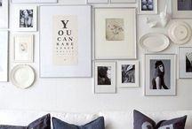 photos + frames / Because you can never display enough photos!