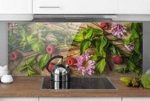 Küchenideen | Fliesen Spritzschutz Folien # Fliesenspiegel #glasbild