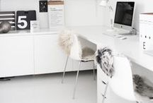 ♡ { interiors } workspace / Dreamy home offices & workspaces