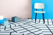 HemingwayDesign x Forbo / The HemingwayDesign x Forbo Flooring Systems collaboration plays with pattern and shape by placing an emphasis on the floor as a surface for graphic art and geometric design.