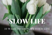 slow down, simplify, organize, minimize - lessons and quidance