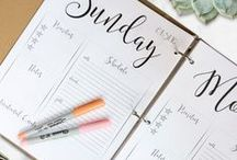 graphic design, printables, fonts, etc. / inspiration for printings, cards, planners, styling...