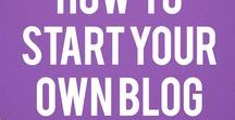tips for a new blogger / Do you want to start a blog? Here you´ll find tips and quidance to start your own blog.