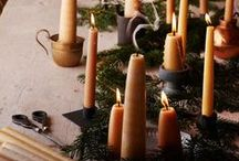 A Country Christmas / Soft textures, candles and wood burners alight, have a very country Christmas.