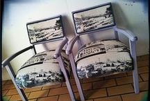 Re-created furniture by {Bezoo} / Picture of furniture pieces that have been up-cycled/revamped/recreated by Bezoo.