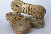 Jute ribbon / Ribbons made from jute are modern components of rustic chic weddings and home décor. Shop for this at http://www.myinspiredplace.com/product-category/ribbons-jute/