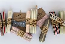 Striped ribbon / Ribbons with stripes come in fresh colours with one, two and multi stripes. To purchase this contact me at myinspiredplace@gmail.com