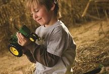 Someday I'll drive a tractor / Childrens dreaming about farming
