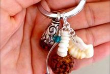 yoga jewelry / handmade by island yoga cocoro on kauai, hawaii  I donate a portion of my yoga key holders to children in tibet, nepal, india
