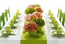 Spring table setting / Ideas for beautiful spring table settings