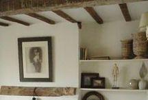 plafond peint ou pas / plafond, poutres, bois / by anne cardroc