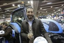 Footballs for Landini's fans / Gianluca Zambrotta was the guest of honour at #Fieragricola2014 on the stand of the Argo Tractors Group thanks to the collaboration signed between Landini and Eracle Sports Center, a sports workshop supported by the World Champion footballer.