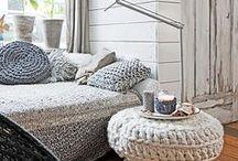 Winter Wonderland / De winter is koud, dus het is fijn als je je huis lekker warm aankleedt. Hoe je dat doet, zie je op dit bord!
